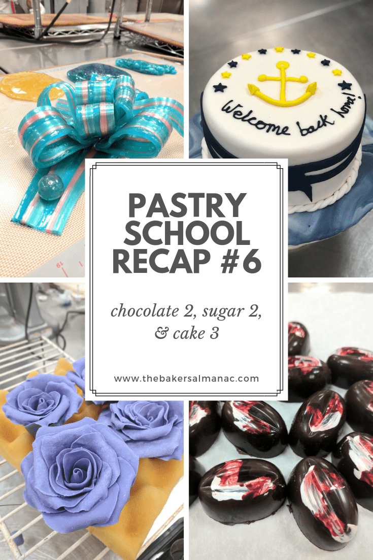 Pastry School Recap #6: Chocolate 2, Sugar 2, and Cake 3