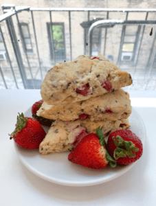 Strawberry Basil Scones