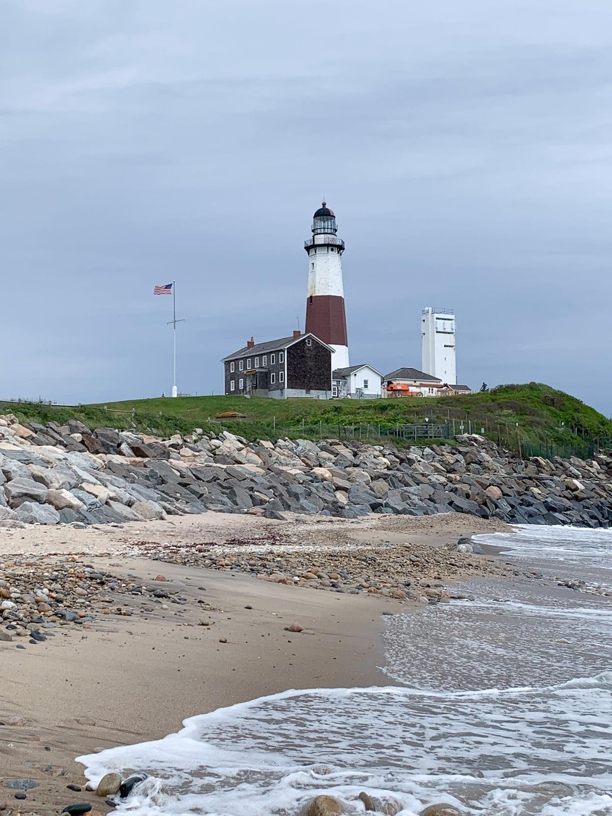 Montauk Lighthouse as seen from beach
