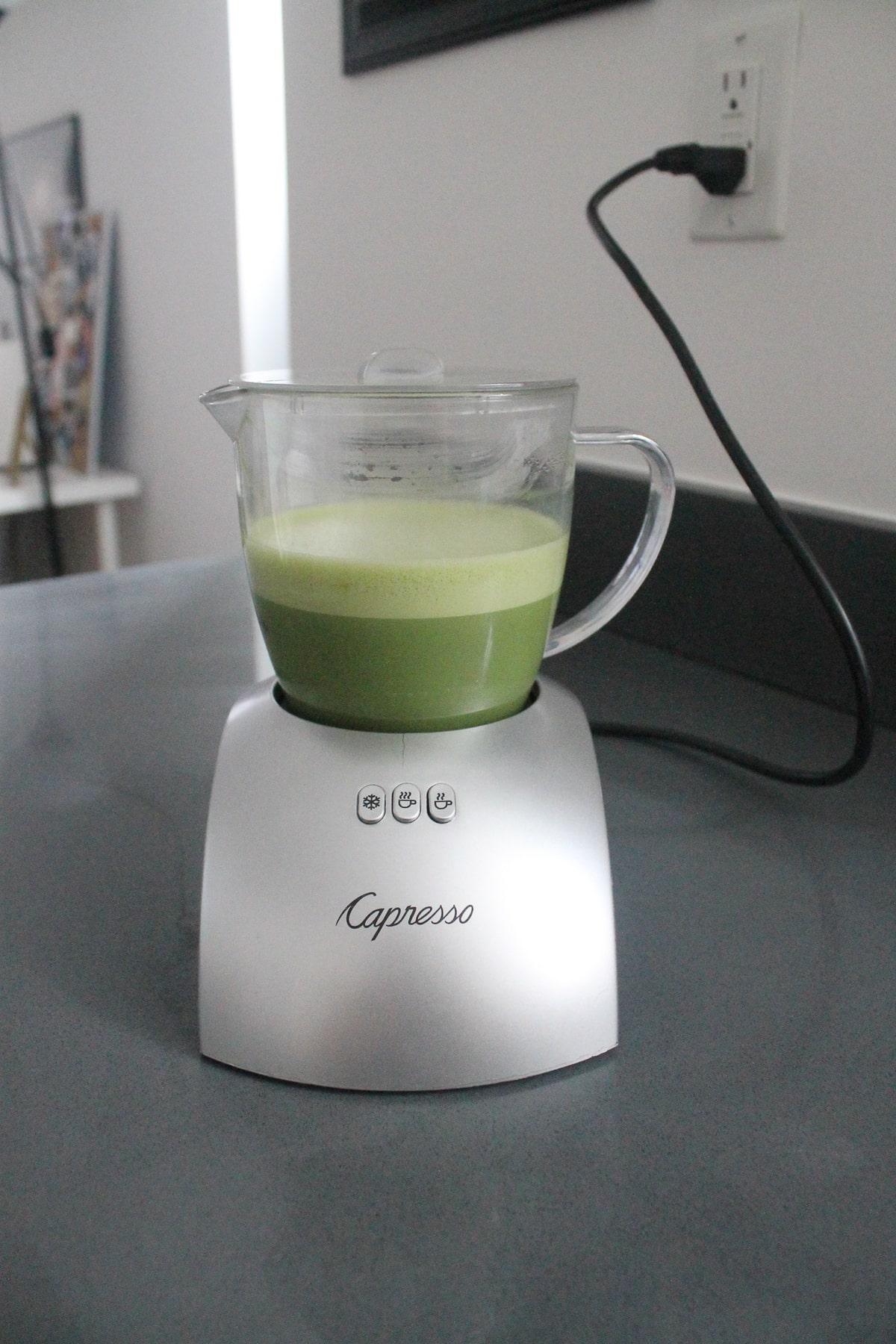 Oat milk matcha latte