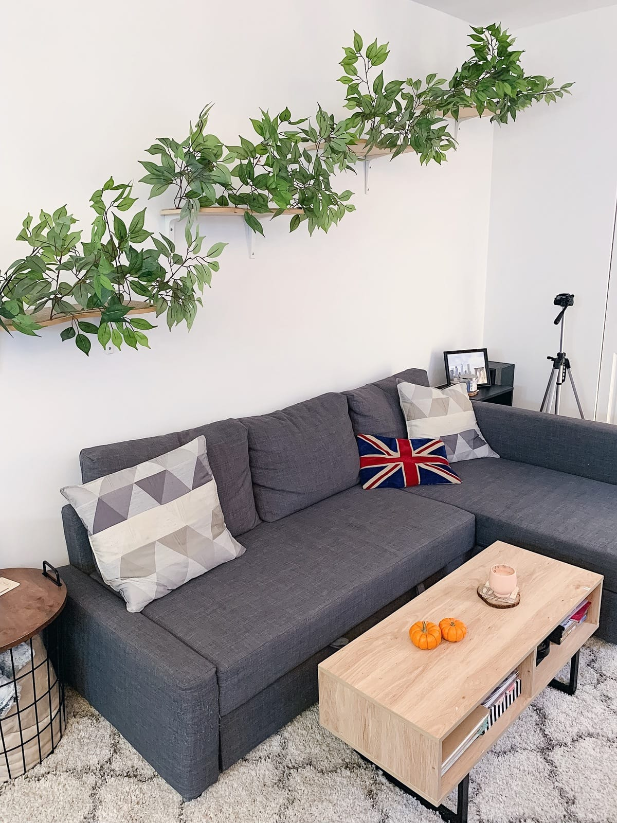 Couch for apartment tour