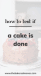 Chocolate cake with berries and a sparkler that reads 'How to Test if a Cake is Done'