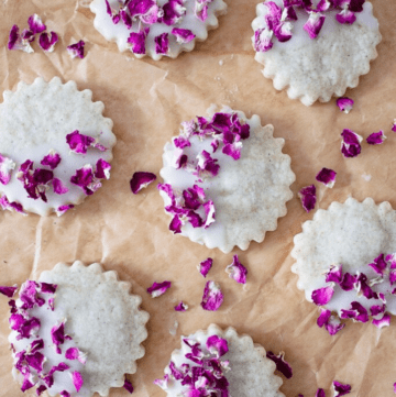 Rose Cardamom Shortbread Cookies
