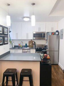 Leslie Jeon's NYC apartment kitchen
