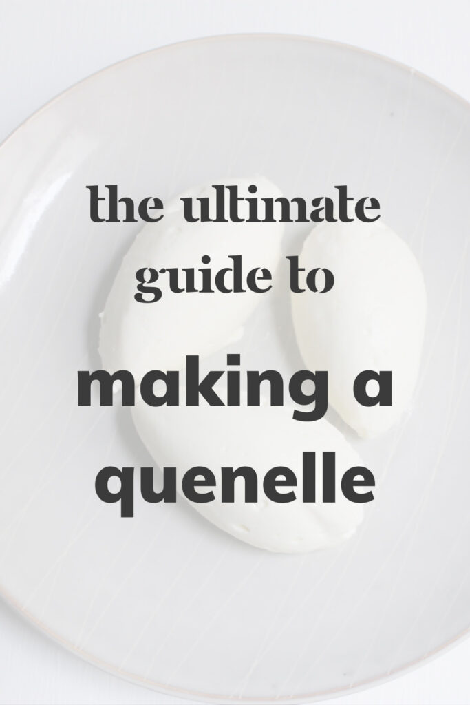 Overhead shot of three quenelles that reads 'The Ultimate Guide to Making a Quenelle'