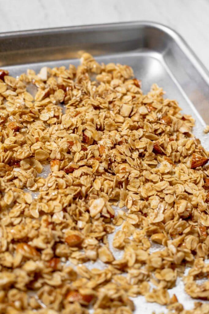 Sheet tray of granola