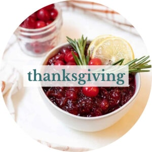 Cranberry sauce with title that reads 'Thanksgiving'